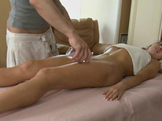 Gal gets her tits mashed and pussy drilled by stud