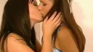 Teen seduced into first time Lesbian Lesbo sex